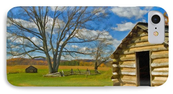 IPhone Case featuring the photograph Log Cabin Valley Forge Pa by David Zanzinger