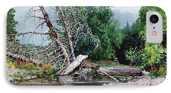 Log Jam IPhone Case by Donald Maier