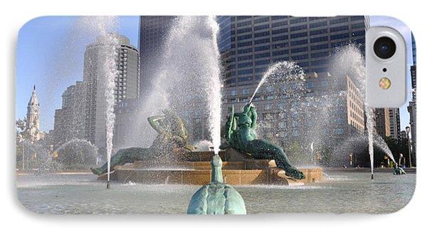 Logan Circle Fountain Phone Case by Bill Cannon