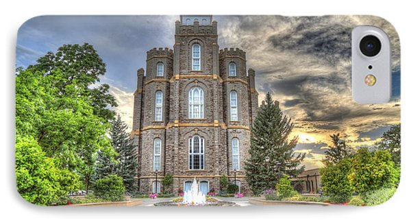 Logan L D S Temple 2 IPhone Case by Donna Kennedy