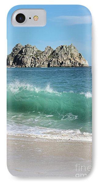 IPhone Case featuring the photograph Logan Rock Porthcurno Cornwall by Terri Waters