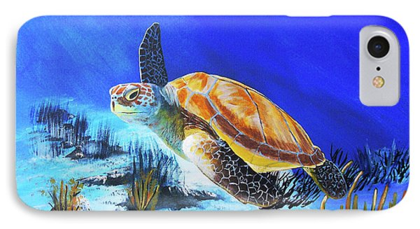 Loggerhead Sea Turtle Phone Case by John Moon