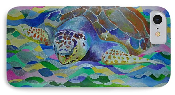 Loggerhead Turtle IPhone Case by Tracey Harrington-Simpson
