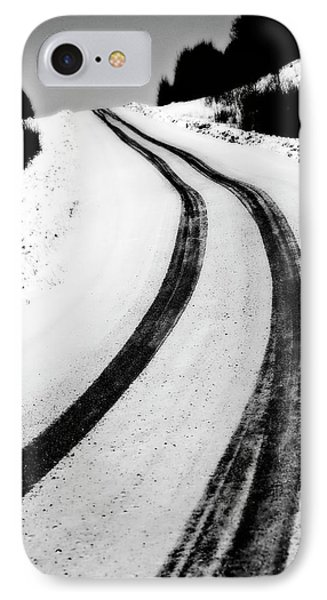 Logging Road In Winter Phone Case by Mark Duffy
