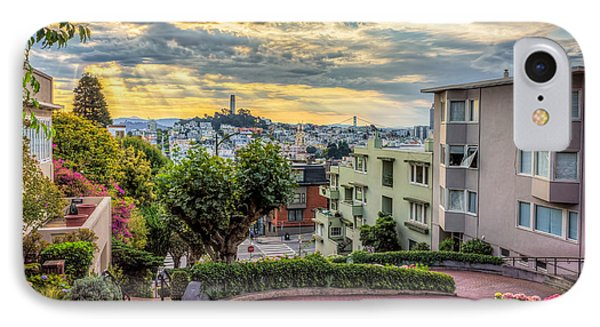 Lombard Street In San Francisco IPhone Case by James Udall
