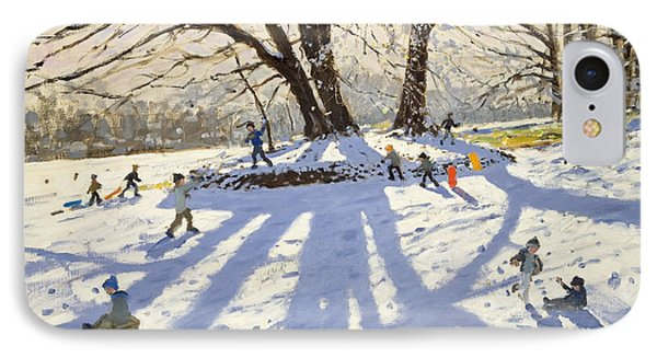 Lomberdale Hall Derbyshire  IPhone Case by Andrew Macara