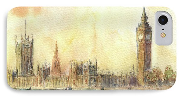 London Big Ben And Thames River IPhone Case by Juan Bosco