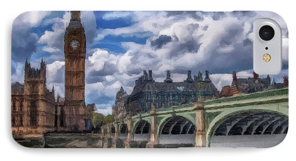 IPhone Case featuring the painting London Big Ben by David Dehner