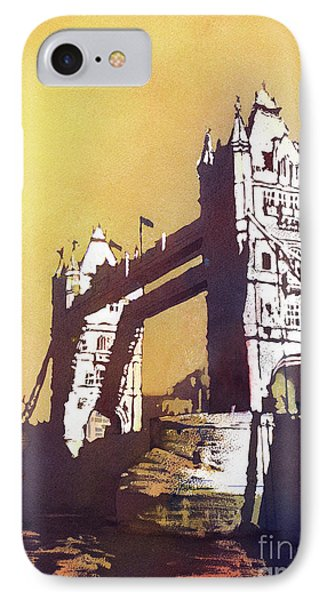 IPhone Case featuring the painting London Bridge- Uk by Ryan Fox