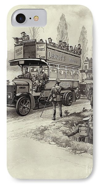 London Buses Used To Take Troops To The Front During Wwi IPhone Case by Pat Nicolle