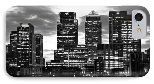 London Canary Wharf Monochrome IPhone Case by Marek Stepan
