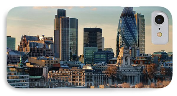 IPhone Case featuring the photograph London City Of Contrasts by Lois Bryan