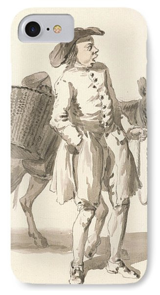 London Cries - Boy With A Donkey IPhone Case by Paul Sandby