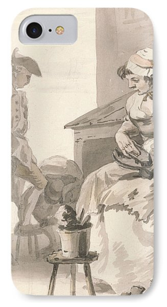 London Cries - Shoe Cleaner IPhone Case by Paul Sandby