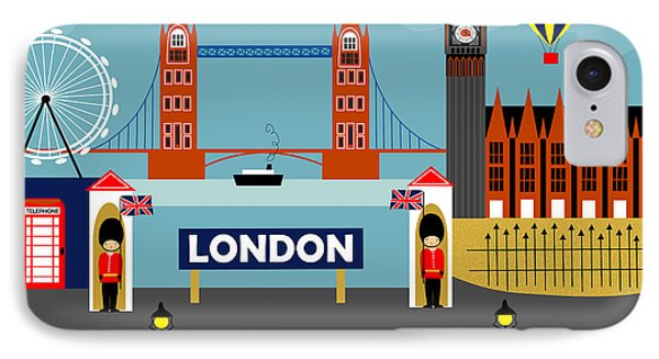 London England Horizontal Scene - Collage IPhone Case by Karen Young