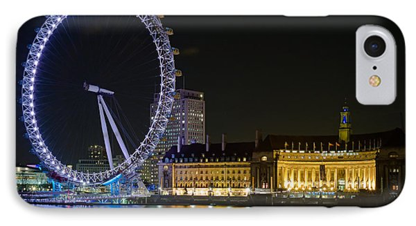 London Eye At Night Phone Case by Clarence Holmes