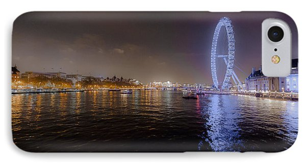 London Eye At Night IPhone Case by Patrick Kain