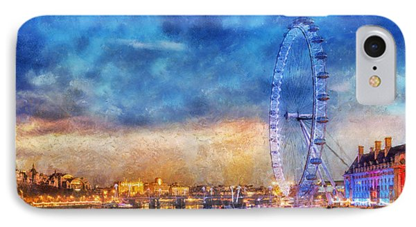 IPhone Case featuring the photograph London Eye by Ian Mitchell