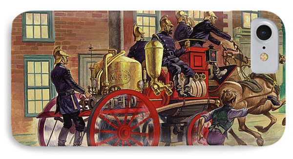London Fire Engine Of Circa 1860 IPhone Case