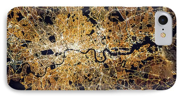 IPhone Case featuring the photograph London From Space by Delphimages Photo Creations