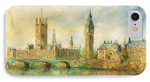 London Parliament IPhone Case by Juan  Bosco
