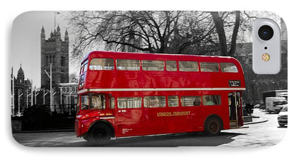 London Red Bus IPhone Case by David French