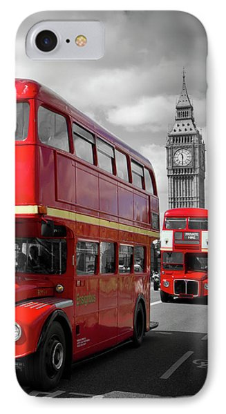 London Red Buses On Westminster Bridge IPhone 7 Case