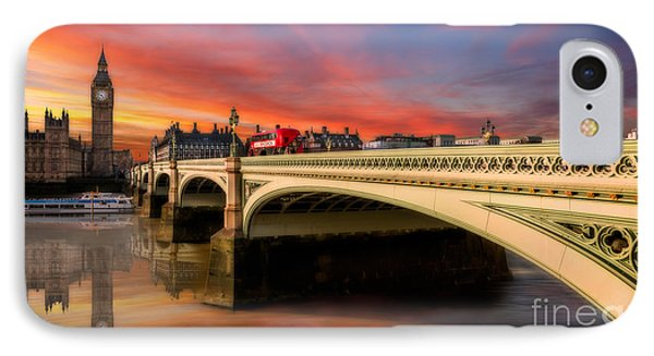 London Sunset IPhone Case by Adrian Evans