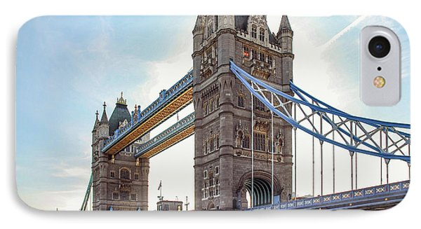 IPhone Case featuring the photograph London - The Majestic Tower Bridge by Hannes Cmarits
