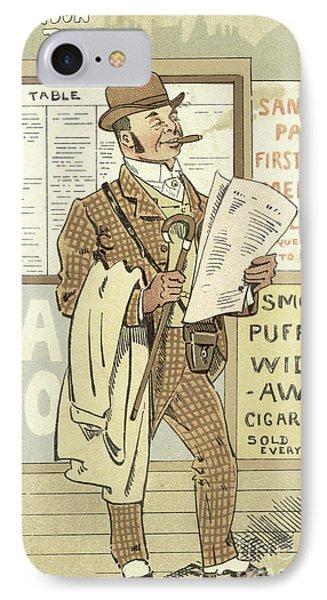 London Types, The Racing Man IPhone Case by Joseph Clayton Clarke