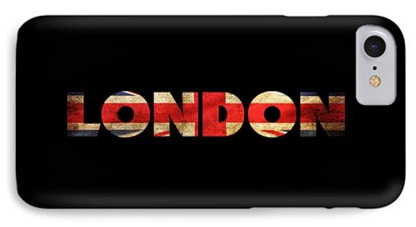 London Vintage British Flag Tee IPhone Case by Edward Fielding