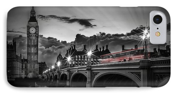 London Westminster Bridge At Sunset IPhone Case by Melanie Viola