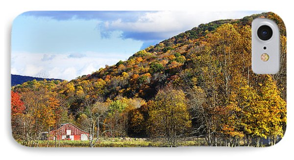 Lone Barn Fall Color Phone Case by Thomas R Fletcher