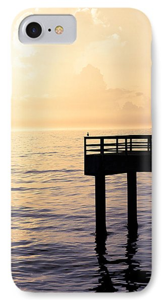 Lone Bird At Morning Phone Case by Marilyn Hunt