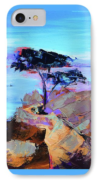 IPhone Case featuring the painting Lone Cypress by Elise Palmigiani