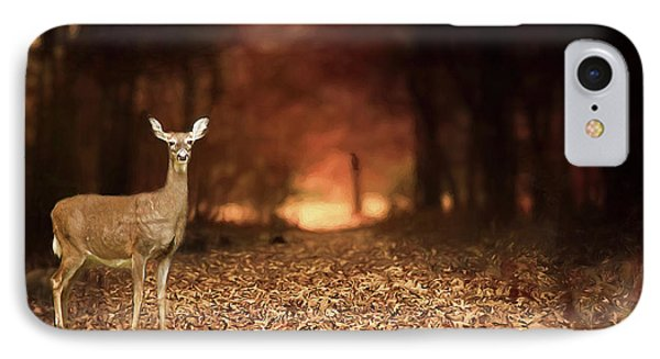 IPhone Case featuring the photograph Lone Doe by Darren Fisher