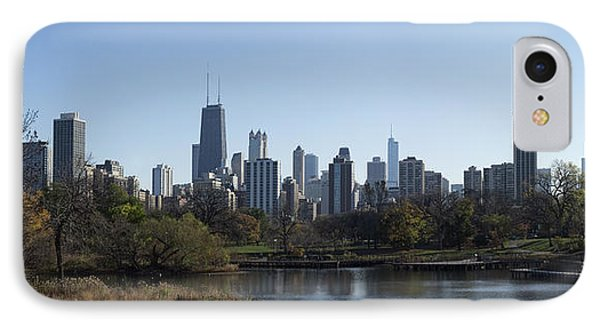 Lone Exerciser Of Lincoln Park - Chicago IPhone Case by Daniel Hagerman