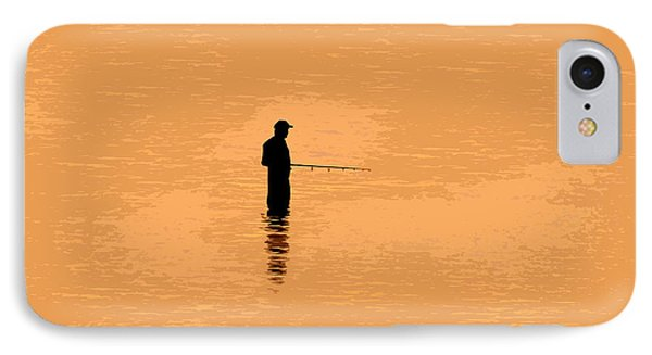 Lone Fisherman Phone Case by David Lee Thompson