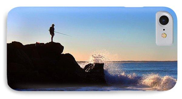 Lone Fisherman - Noosa Heads Phone Case by Susan Vineyard
