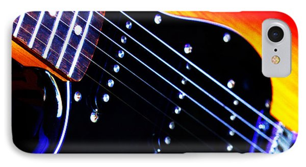 IPhone Case featuring the photograph Lone Guitar by Baggieoldboy