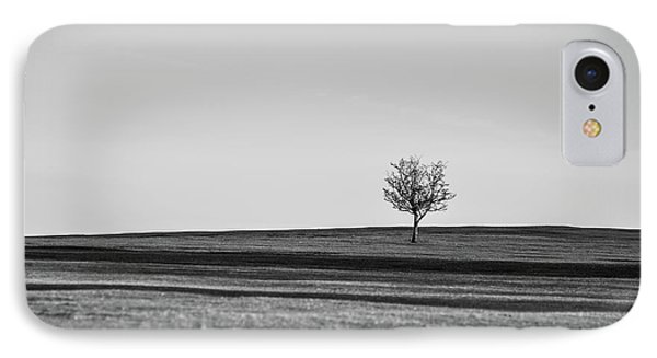 Lone Hawthorn Tree Iv IPhone Case