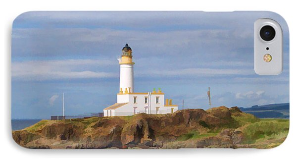 IPhone Case featuring the photograph Lone Lighthouse In Scotland by Roberta Byram