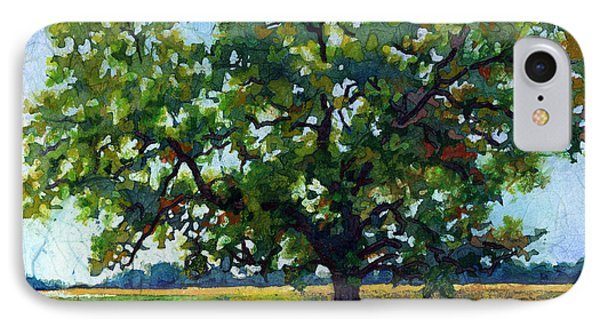 IPhone Case featuring the painting Lone Oak by Hailey E Herrera