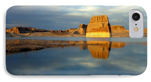 Lone Rock Glow IPhone Case by Mike  Dawson