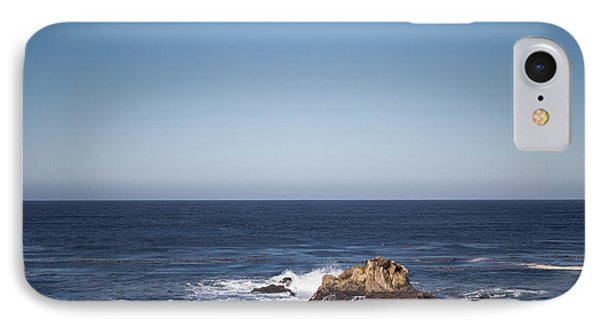 IPhone Case featuring the photograph Lone Rock In The Ocean by Jingjits Photography