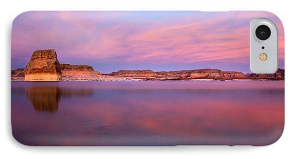 Lone Rock Sunset Phone Case by Mike  Dawson