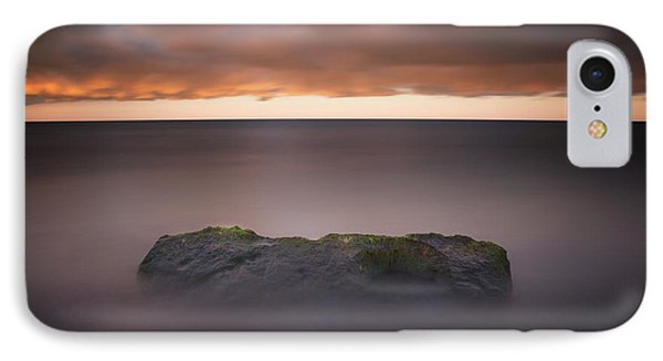 IPhone 7 Case featuring the photograph Lone Stone At Sunrise by Adam Romanowicz