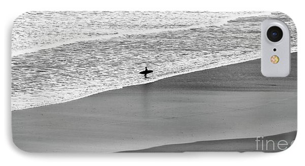 IPhone Case featuring the photograph Lone Surfer by Nicholas Burningham