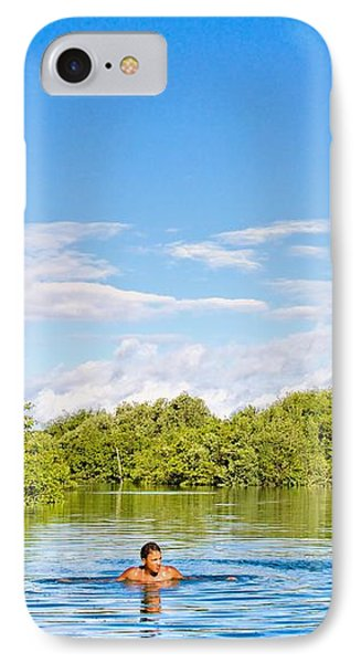 IPhone Case featuring the photograph Lone Swimmer by Kim Wilson