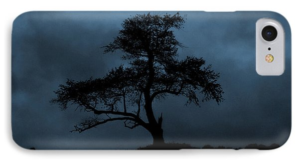 Lone Tree Blue IPhone Case by Cindy Haggerty